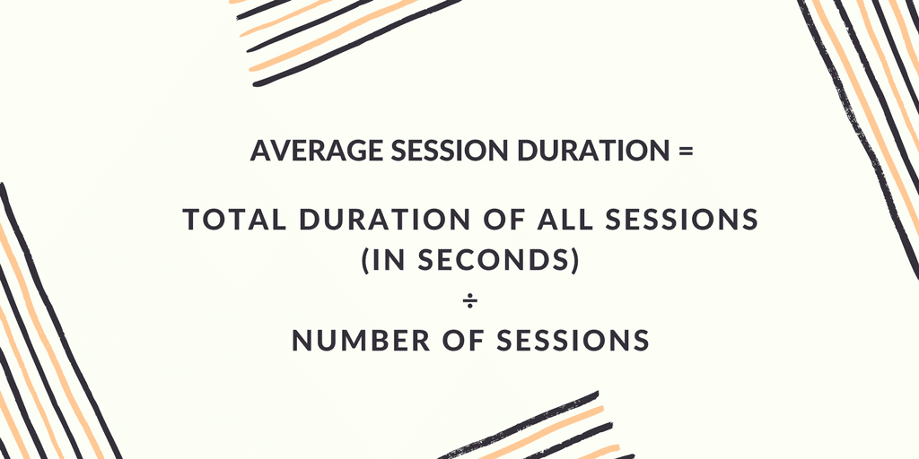 Average Session Duration equation